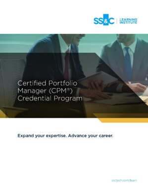 Certified Portfolio Manager Credential Program