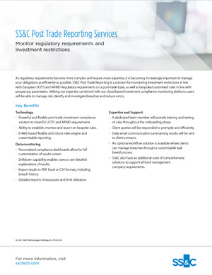 Post Trade Reporting Services