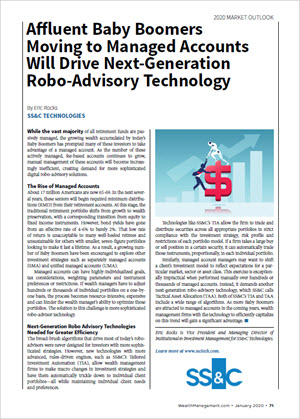Affluent Baby Boomers Moving to Managed Accounts Will Drive Next-Generation Robo-Advisory Technology