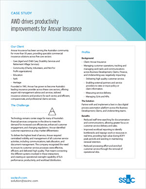 AWD Drives Productivity Improvements for Ansvar Insurance