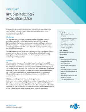 New, best-in-class SaaS reconciliation solution