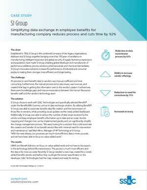 Simplifying Data Exchange in Employee Benefits for Manufacturing Company Reduces Process and Cuts Time by 92%
