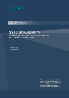 SS&C Singularity-Moving into the Future of Investment Accounting Operations