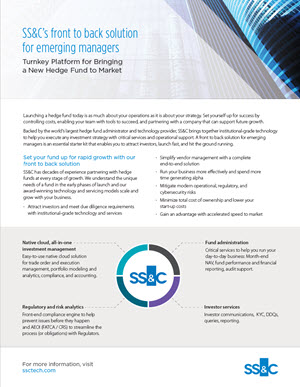 SS&C's Front to Back Solution for Emerging Managers