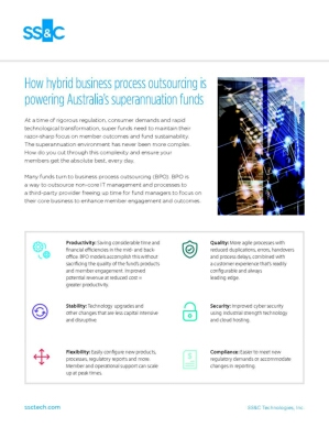 How Hybrid Business Process Outsourcing is Powering Australia's Superannuation Funds