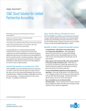 SS&C Cloud Solution for Limited Partnership Accounting