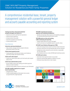 SKYLINE® Property Management Solution for Residential and Multi-Family Properties