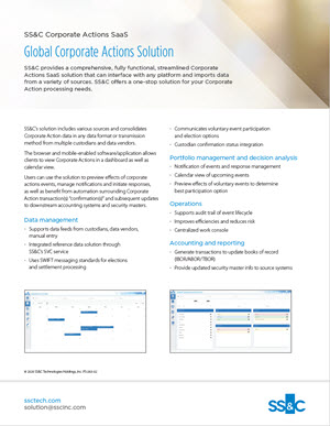 SS&C Corporate Actions SaaS