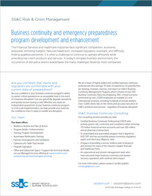 Business Continuity and Emergency Preparedness Program Development and Enhancement