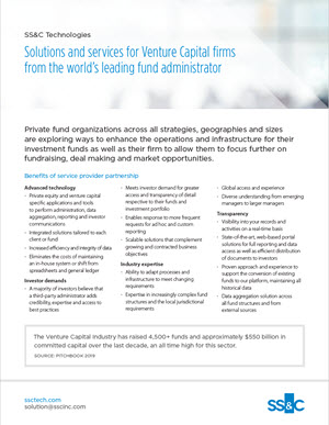 Solutions and services for Venture Capital firms form the world's leading fund administrator