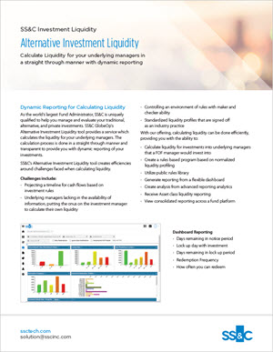 Alternative Investment Liquidity
