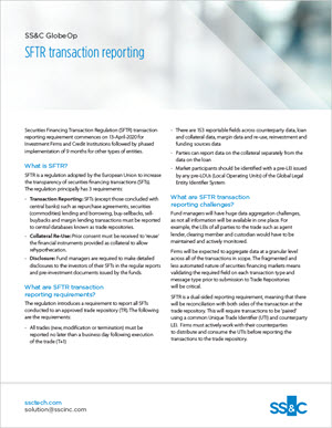 SFTR transaction reporting