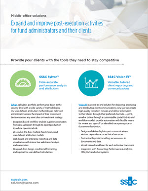 Expand and Improve Post-Execution Activities for Fund Administrators and Their Clients