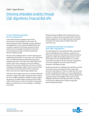 Unlocking embedded analytics through Financial Risk APIs