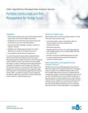 Portfolio Construction and Risk Management for Hedge Funds
