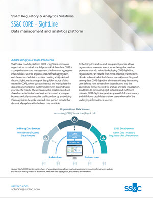 SS&C CORE - SightLine - Data management and analytics