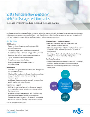 SS&C's Comprehensive Solution for Irish Fund Management Companies