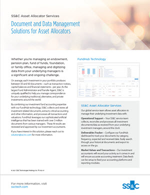 Document and Data Management Solution for Asset Allocators