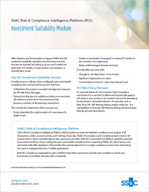 Investment Suitability Module