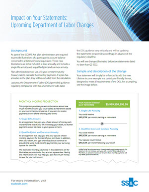 Department of Labor Changes: Impact on Client Statements