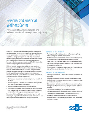 Personalized Financial Wellness Center
