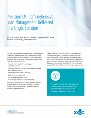 Precision LM: Comprehensive Loan Management Delivered in a Single Solution