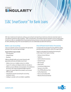 SS&C SmartSource™ for Bank Loans