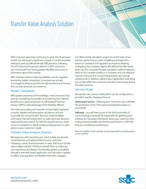 Transfer Value Analysis Solution