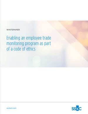 Enabling an employee trade monitoring program as part of a code of ethics