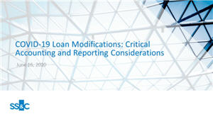 COVID-19 loan modifications: what are the critical accounting and reporting considerations?