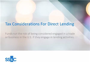 Tax Considerations for Direct Lending
