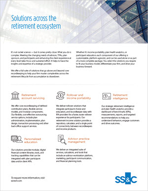 Solutions across the retirement ecosystem
