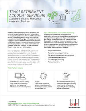 TRAC® retirement account servicing