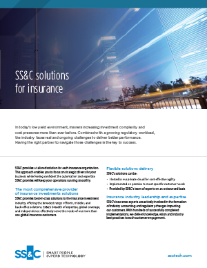 SS&C solutions for insurance