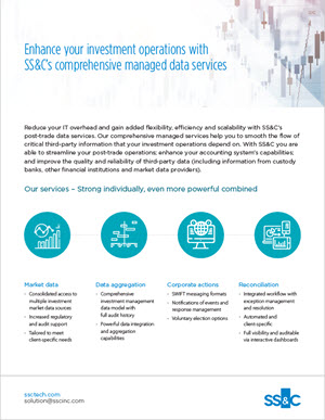 Enhance Your Operations with SS&C's Managed Data Services
