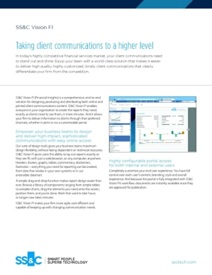 Vision FI -  Taking client communications to a higher level