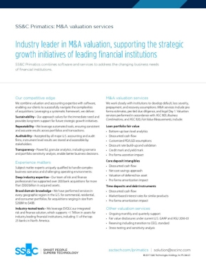 SS&C Primatics: M&A Valuation Services