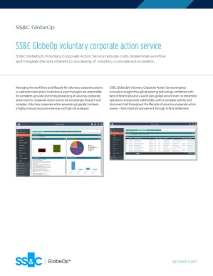 SS&C GlobeOp voluntary corporate action service