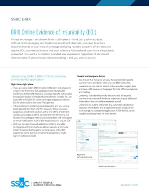 BRIX Online Evidence of Insurability