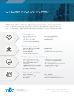 SS&C GlobeOp solution for asset allocators