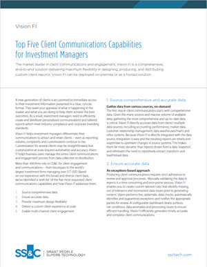 Top Five Client Communications Capabilities for Investment Managers