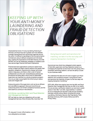 Keeping up with your anti-money laundering and fraud detection obligations