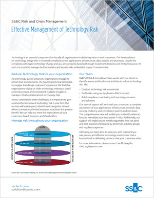 Effective Management of Technology Risk