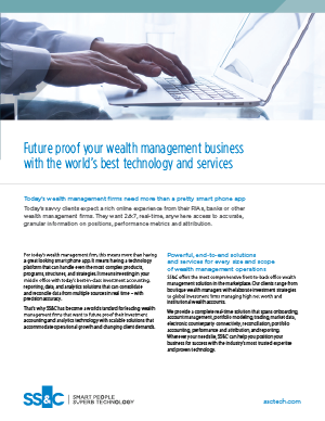 Future proof your wealth management business with the world's best technology and services