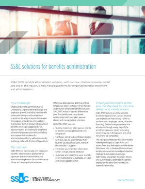 SS&C solutions for benefits administration
