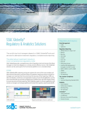 SS&C GlobeOp Regulatory & Analytics Solutions