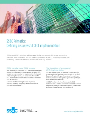 SS&C Primatics – Defining a successful CECL implementation