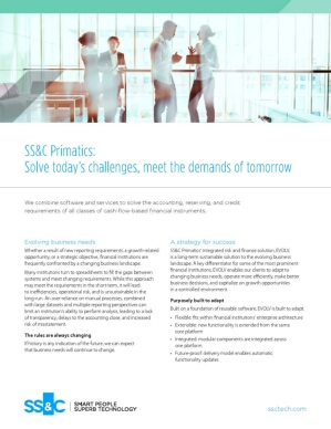 SS&C Primatics: Solve today's challenges, meet the demands of tomorrow