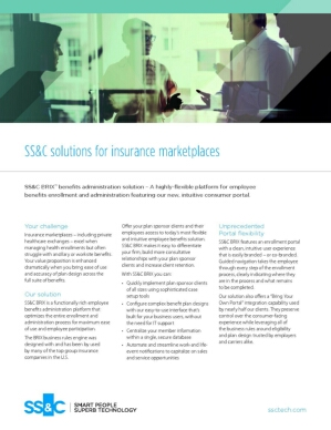 SS&C solutions for insurance marketplaces