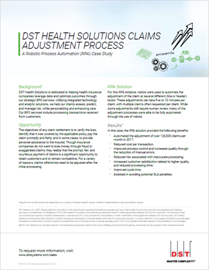 DST Health Solutions claims adjustment process